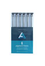 Art Alternatives Pigment Liner Black 6Pc Set