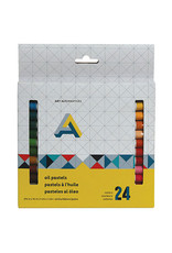 Art Alternatives Oil Pastel 24-Color Set, Student-Grade 2 3/4'' X 3/8'' Sticks