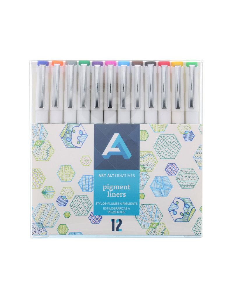 Art Alternatives Pigment Liner Color 12Pc