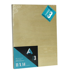 Art Alternatives Wood Panel Super Value Packs Uncradled, 11'' X 14'' 3/Pkg