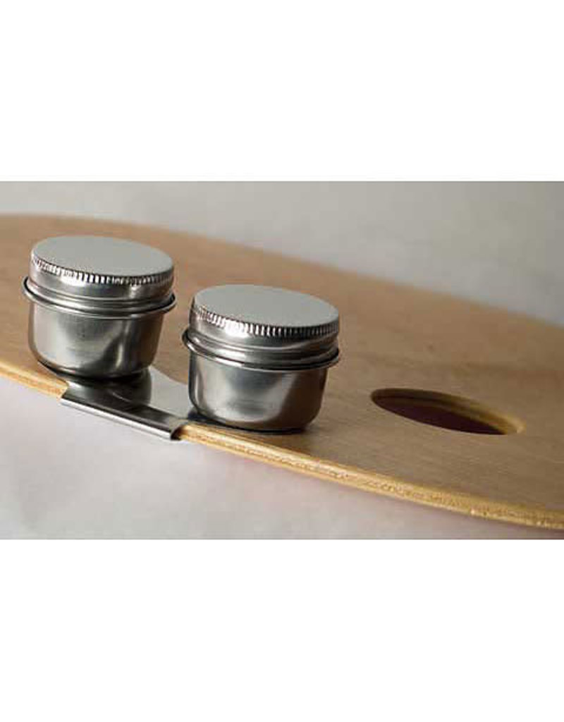 Art Alternatives Stainless Steel Palette Cups w/Lids, Single Cup w/Lid