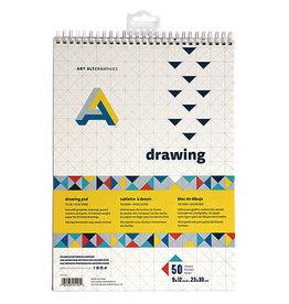 Art Alternatives Drawing Pad Spiral Bound 9X12