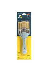 Art Alternatives Utility Brush 3/Set Bristle Long Handle