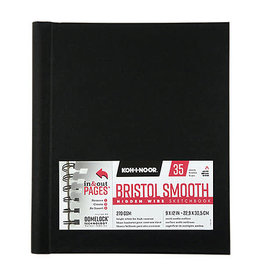 "Koh-I-Nor Hidden Wire Bristol Smooth Sketchbooks, 9"" x 12"""