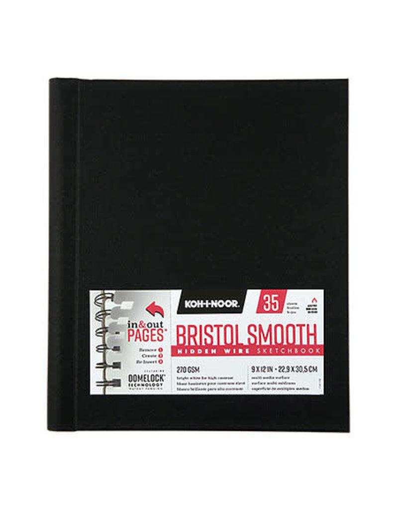 Koh-I-Nor Hidden Wire Bristol Smooth Sketchbooks, 9'' x 12''