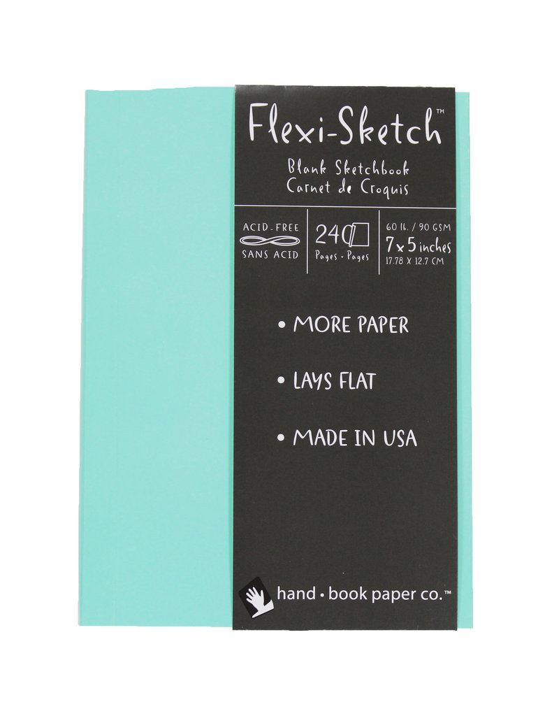 Global Flexi-Sketch Sketch Book 7'' X 5'' Pool