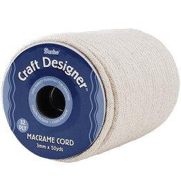 Darice Macrame Cord - Natural Cotton - 32ply - 3mm