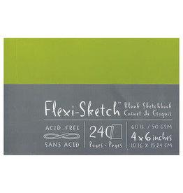 Global Flexi-Sketch Sketch Book 4 X 6 - Fern