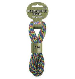 Pepperell Paracord Tye-Dye/Rnbw 550 16Ft