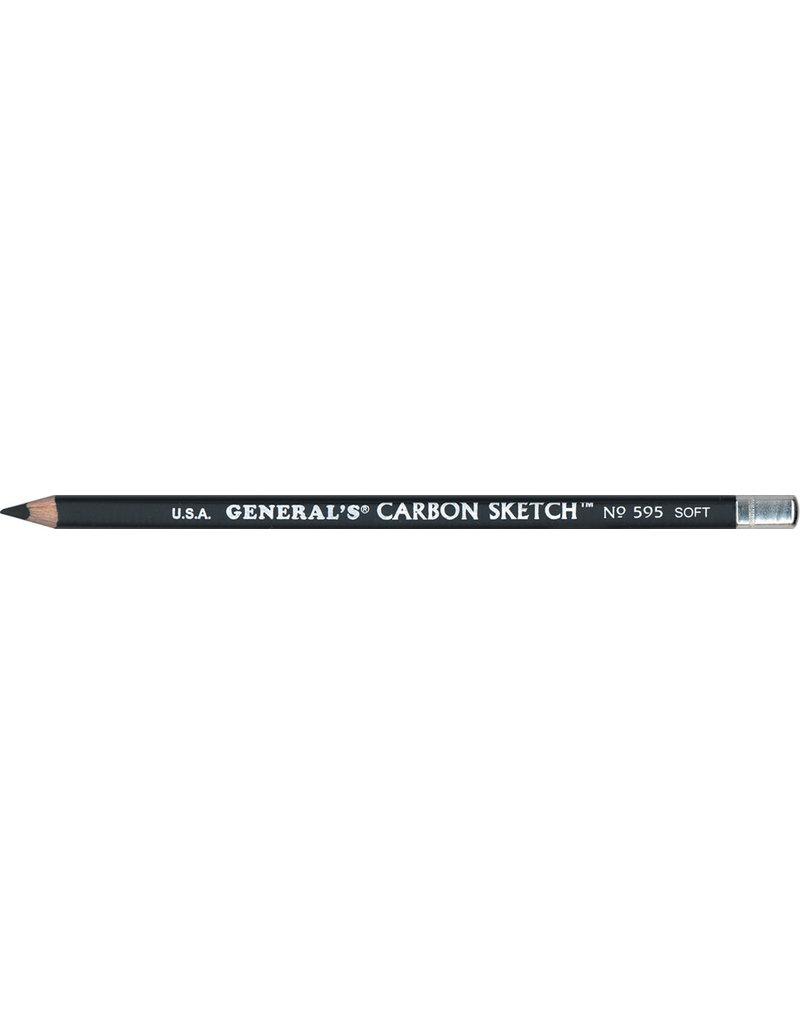 General Pencil Black Carbon Pencil 4B