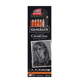 General Pencil Charcoal Drwing Pncl 6/Set