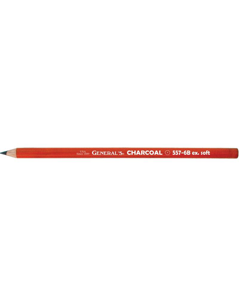 General Pencil Charcoal Pencil 6B