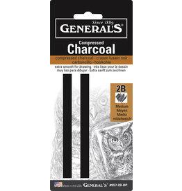 General Pencil Comp Char Squ 2B Hard 2/Cd