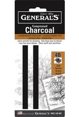 General Pencil Compressed Charcoal Sets, 4B Medium