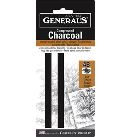 General Pencil Comp Char Squ 4B Med 2/Cd