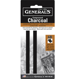 General Pencil Comp Char Squ 6B Soft 2/Cd