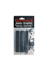 General Pencil Jumbo Compressed Graphite Stick Set, 3 Pack