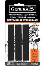 General Pencil Jumbo Compressed Charcoal Sets, 6B Carded