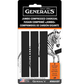 General Pencil Jumbo Comp Charcoal 6B Crd