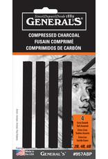 General Pencil Compressed Charcoal Sets, Black
