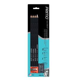 General Pencil Primo Euro Chrcl Pncls 4/Cd