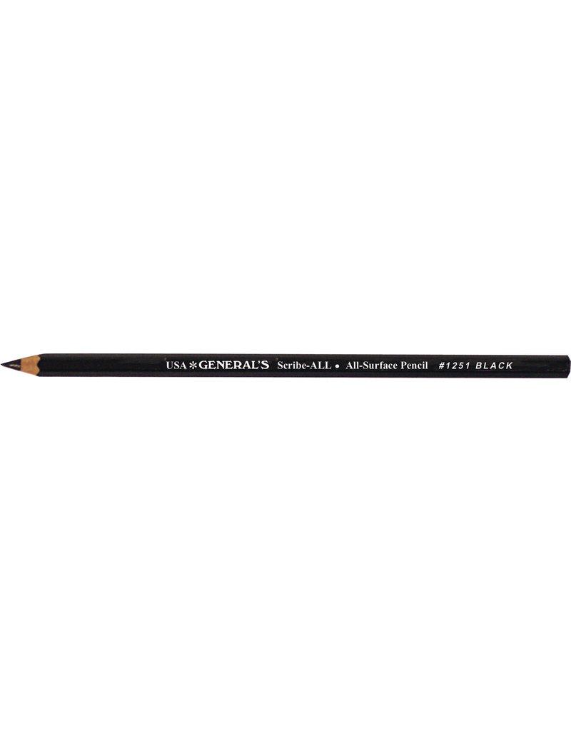 General Pencil Scribe All Black