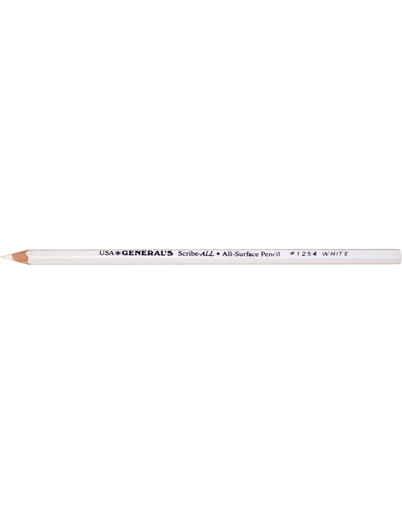 General Pencil Scribe All White
