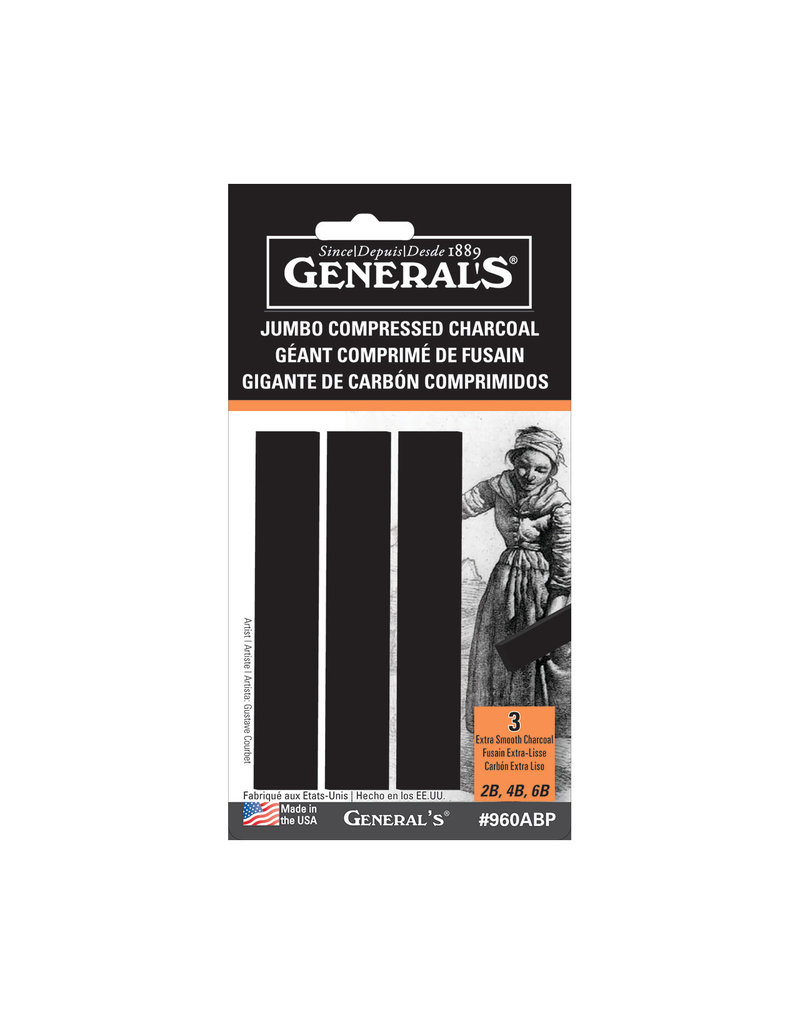 General Pencil Compressed Charcoal Jumbo