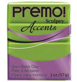 Sculpey Premo 2Oz Brt Green Pearl