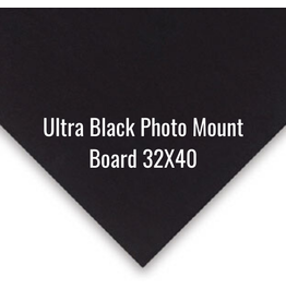 Crescent Board Ultra Black Photo Mount Board 32X40