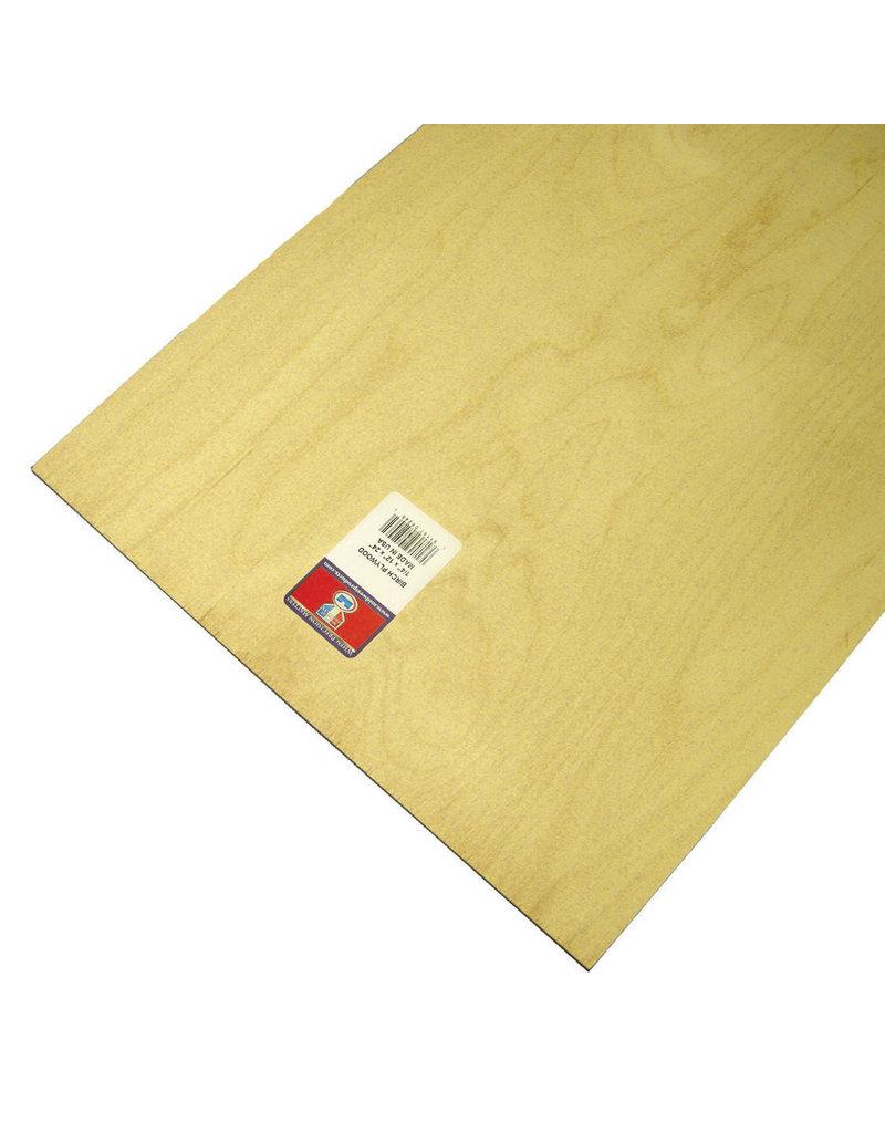 Midwest Birch Plywood 1/4X12X24