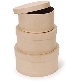 Darice Paper Mache Box - Round - 12 X 6 In