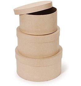 Darice Paper Mache Box 3.5 X 4 Inches