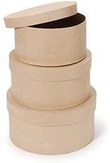 Darice Paper Mache Box- Round - 4 X 4 X 2 In