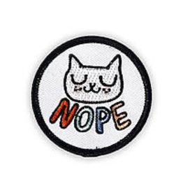 Badge Bomb Patch Nope Cat