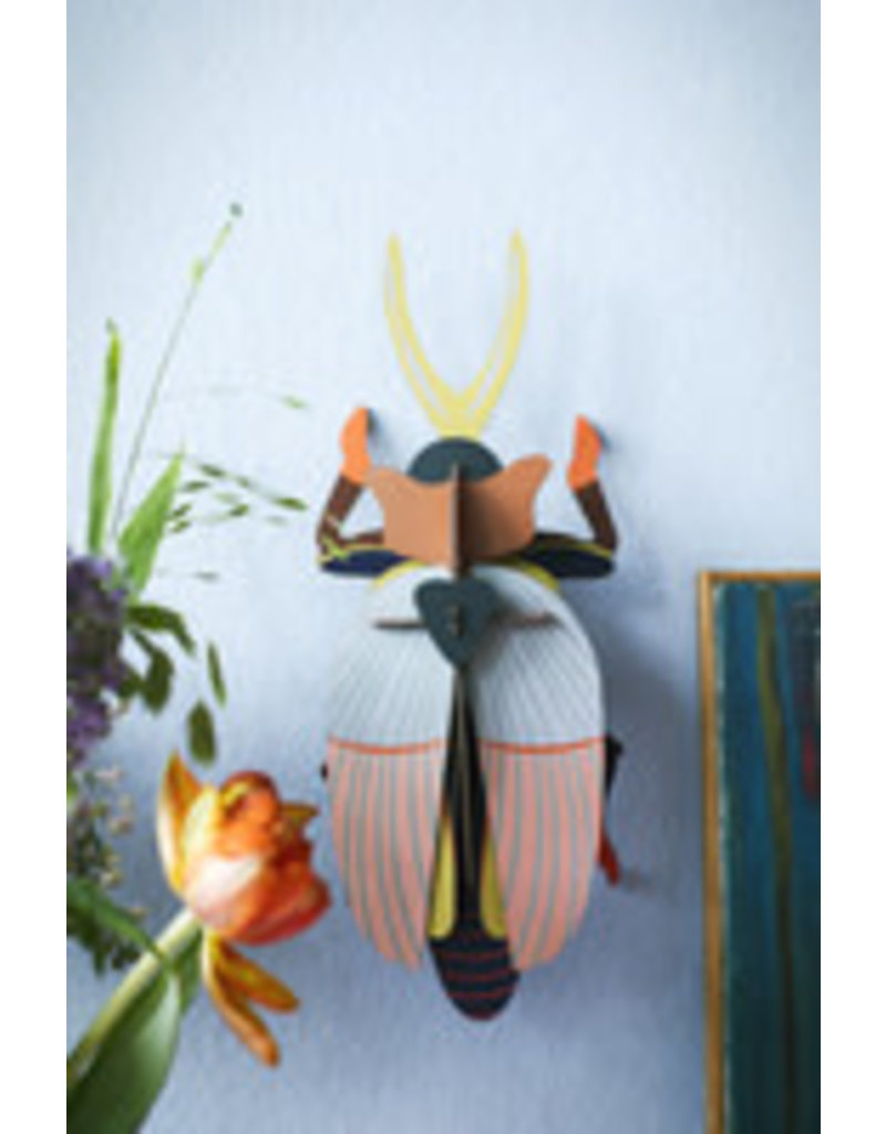 Studio Roof Wall Deco, Lrg, Tribal Rhino Beetle