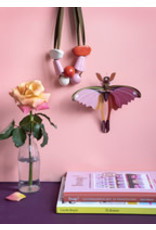 Studio Roof Wall Deco, Small, Pink Comet Butterfly