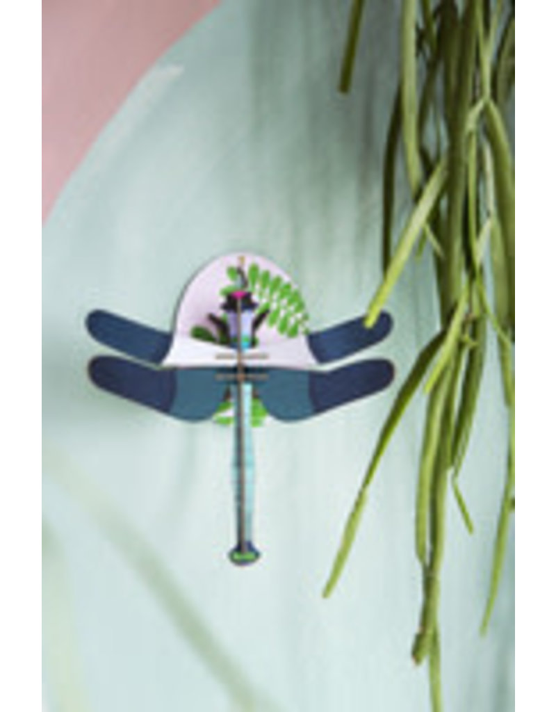 Studio Roof Wall Deco, Small, Blue Dragonfly