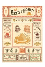 Cavallini Wrap Sheet Bees & Honey