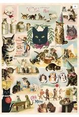 Cavallini Wrap Sheet Cat Collage