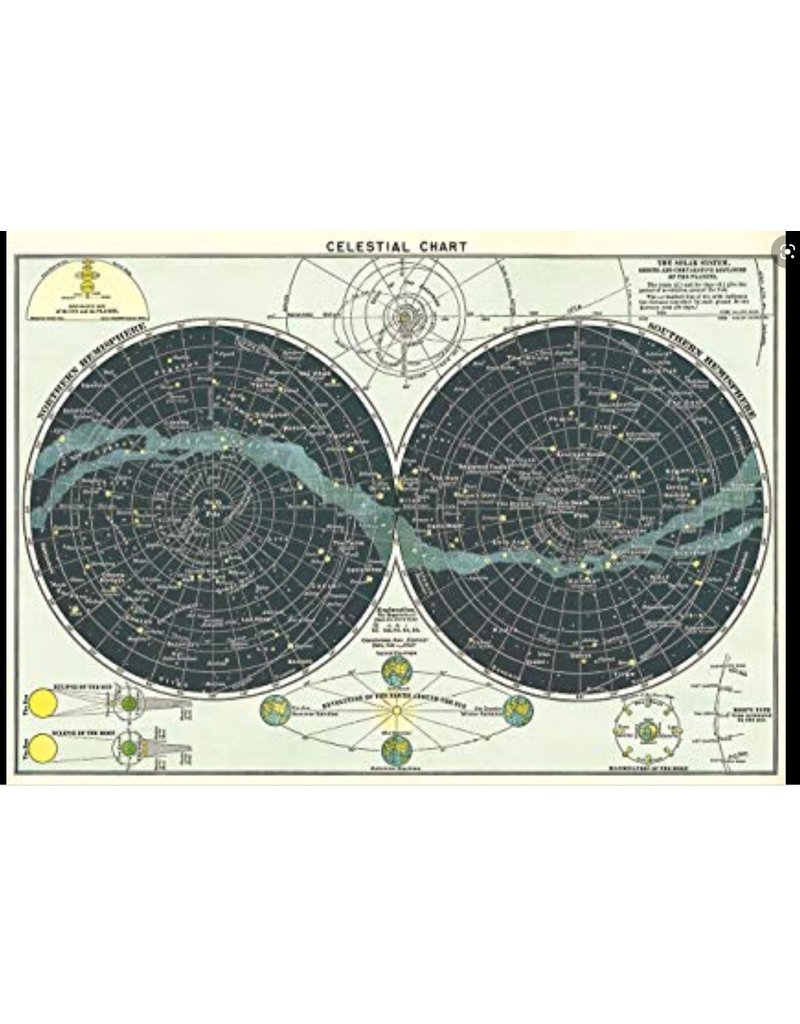Cavallini Wrap Sheet Celestial Chart