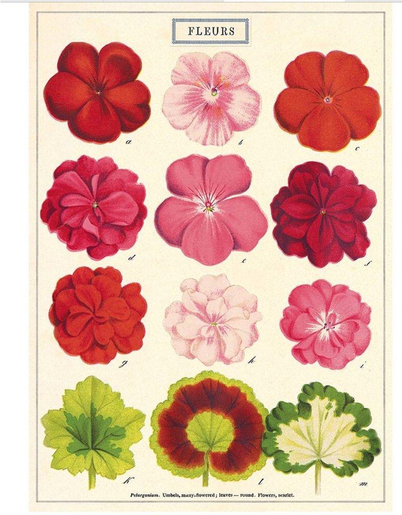 Cavallini Wrap Sheet Fleurs