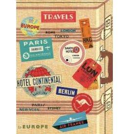 Cavallini Wrap Sheet Vintage Travel