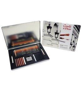 Conte Conte Pencil Sketch 23 Piece Box
