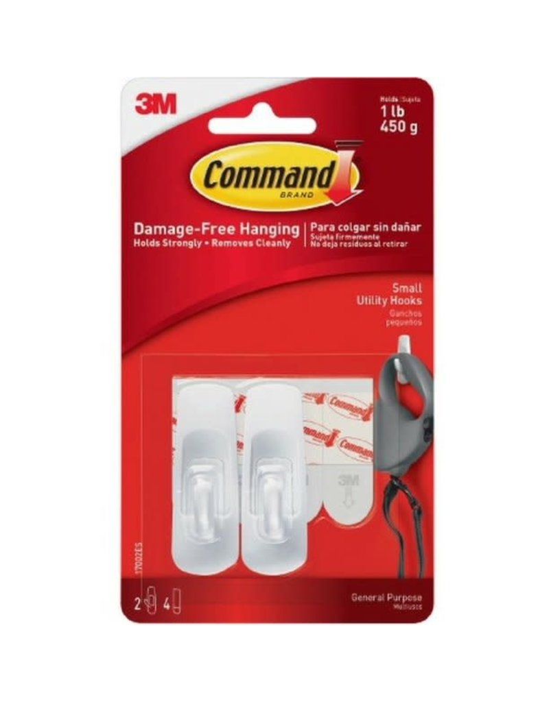 Scotch 3m Command Hooks And Clips, Small - White