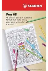 Stabilo Stabilo Pen 68 Dark Red