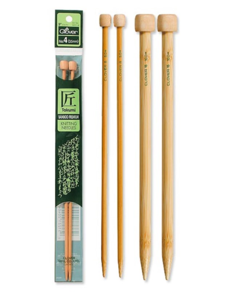 Clover 9 Single Point Knitting Needle Size 8