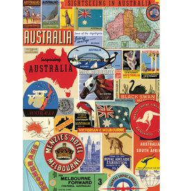 Cavallini Wrap Sheet Australia Collage