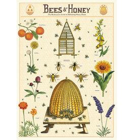 Cavallini Wrap Sheet Bees & Honey 2