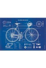 Cavallini Wrap Sheet Bicycle Blueprint